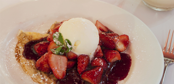 The Olive tree Restaurant South Melbourne Strawberry Crepes